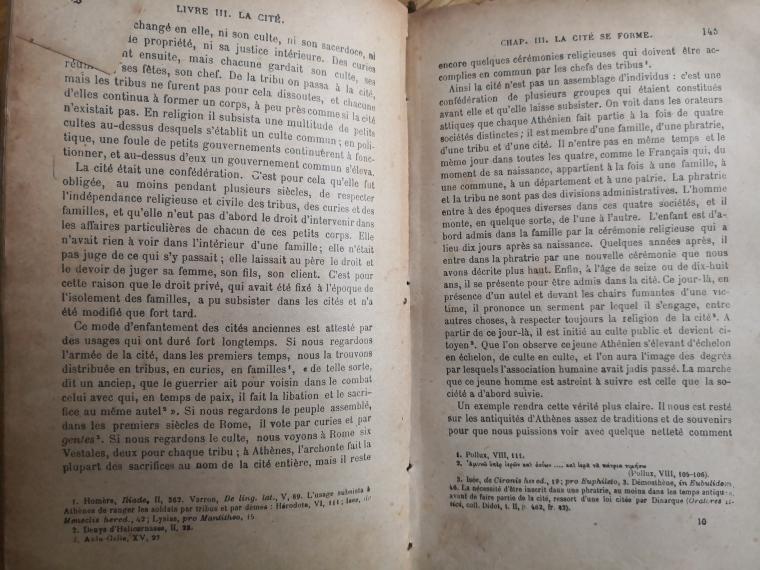 La Cité Antique : détail page.