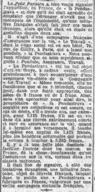 Le Petit Parisien, février 1929.