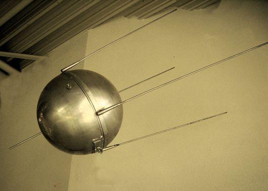 Vue réelle du satellite Spoutnik.